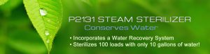 P2131 Steam Sterilizer - Water Conservation